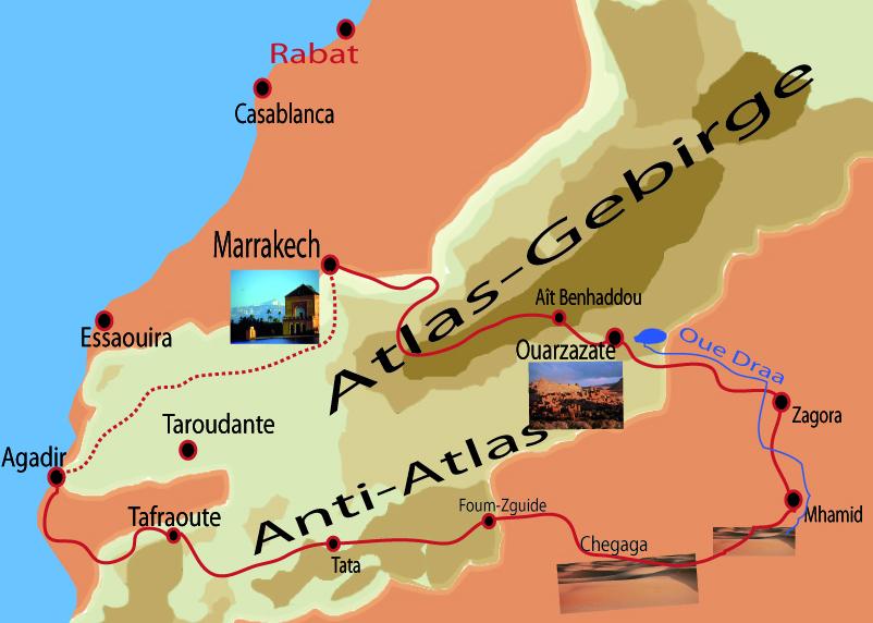 Voyage sur les traces des Nomades Marrakech - Sahara